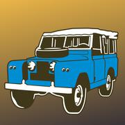 Land Rover vector Stock Illustration