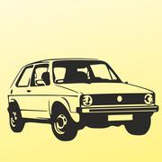 Volkswagen Golf 1 Stock Illustration