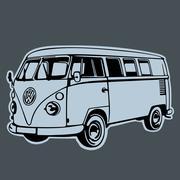 Volkswagen Transporter Bully T1 - stock illustration
