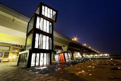 AbstracT Architecture at night Stock Photos