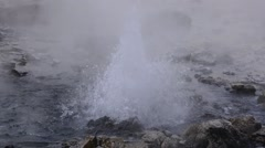 Pong Dued Geyser. - stock footage