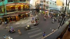Ho Chi Minh-City, timelapse showing busy traffic and streetlife - stock footage
