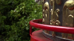 Tibetan Prayer Wheel close up, CA - 60fps Stock Footage