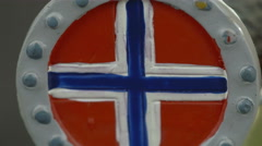 A drawing of a Norway flag Stock Footage
