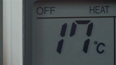 Temperature going up from 16 to 30 Stock Footage