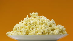 Popcorn on a plate Stock Footage