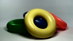 Plastic Donuts Toy Stock Footage