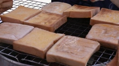 Cooking toast Stock Footage