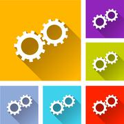 Cogs icons Stock Illustration