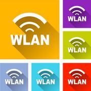 Wlan icons Stock Illustration