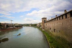 Adige River - stock photo