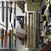 Guns and cases Stock Photos