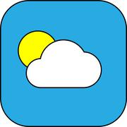 Weather web icon with cloud and sun Stock Illustration