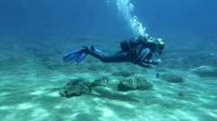 Female Scuba Divers Stock Footage