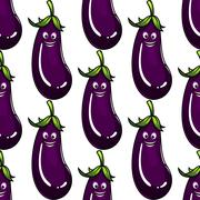Seamless background pattern of a ripe eggplant Stock Illustration