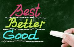 Stock Photo of best better good concept