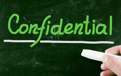Confidential concept Stock Photos