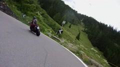 Biking in the dolomites Stock Footage