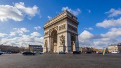 Arc de Triomphe 4K Time lapse Stock Footage