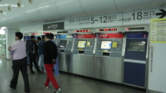 Automatic ticket sales in the Chinese underground 2 Stock Footage