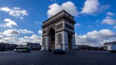 Arc de Triomphe Time lapse - stock footage
