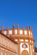 The palace of Wiesbaden Biebrich, Germany - stock photo