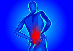 Lower back pain Stock Illustration