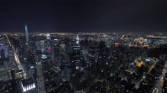 New york city at night. nyc. skyline skyscrapers. urban cityscape Stock Footage