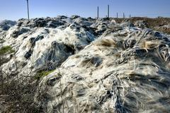 landfill of industrial waste - stock photo