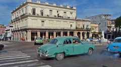 Havana traffic - stock footage
