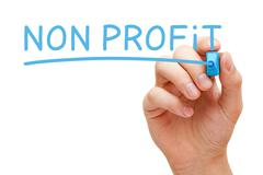 Non Profit Blue Marker - stock photo