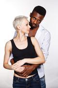 Interracial love - stock photo