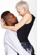 Stock Photo of Interracial love