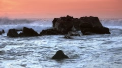 Pacific ocean splashing waves, Big Sur - 60fps Stock Footage