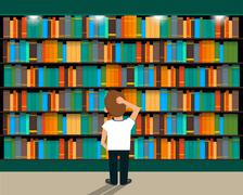 Library Stock Illustration