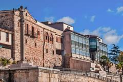 Art deco museum side in Salamanca - stock photo