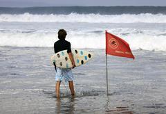 Pending waves - stock photo
