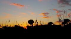 Beautiful Sunset Timelapse Jacksonville Florida Stock Footage