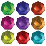 Brilliant cut gems Stock Illustration