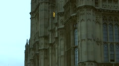 Westminster Palace Houses of Parliament London England Morning Evening Stock Footage