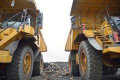 the big trucks - stock photo