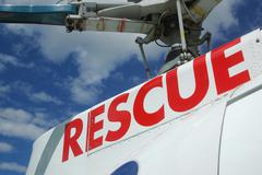 Rescue signage Stock Photos