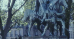 Paris Youth Hanging Around 70s 80s 16mm Stock Footage
