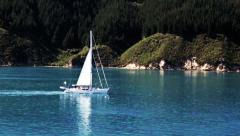 Aerial. Yacht HD footage Stock Footage