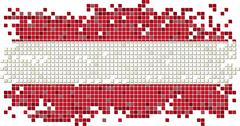Stock Illustration of Austrian grunge tile flag. Vector illustration
