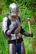 knight in shining armor - stock photo