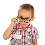 Wise little boy - stock photo