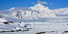 Beautiful snow-capped mountains Stock Photos