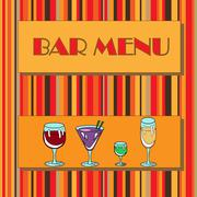 Restaurant or wine bar menu design. Seamless vector illustration Piirros