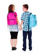 Teenage Love - Holding Hands Stock Photos